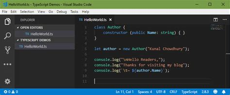 Building Your First Hello Typescript Application