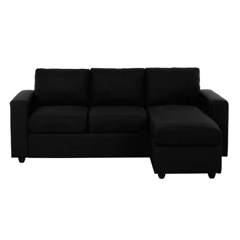 canapé 3 places noir canapé d 39 angle 3 places en tissu noir jules maisons du monde