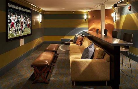 Media room couch, home theater room with bar mobile homes