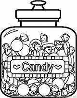 Candy Coloring Pages Jar Wonka Printable Colouring Chocolate Food Store Factory Template Willy Sweet Draw Cane Coloringpages101 Charlie Nerds Bars sketch template