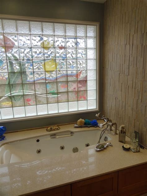Glass Block Designs For Bathrooms by Decorative Glass Block Borders For A Shower Wall Or Windows