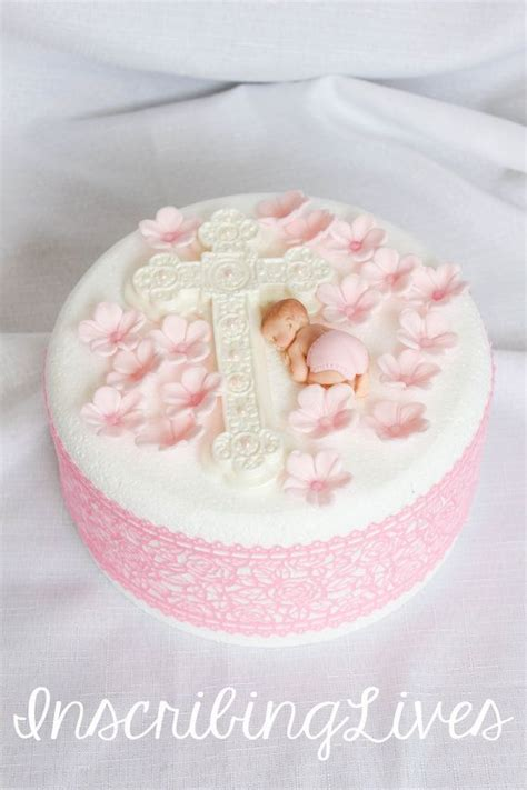 baby christening cake decorating ideas
