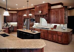 Birch cabinetry with cherry stain/finish - Traditional