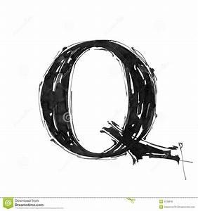 Alphabet Symbol - Letter Q Royalty Free Stock Image
