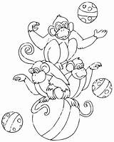 Circus Coloring Pages Easy Children Printable Justcolor sketch template