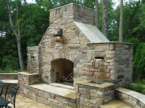 Building Stone Fireplace by Combination Outdoor Fireplace And Water Fountain Outdoor