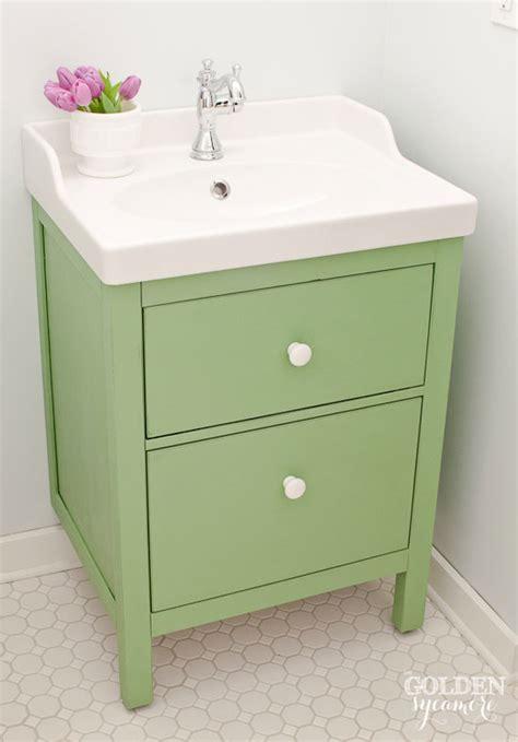 ikea hemnes sink vanity green ikea custom bathroom vanity the golden sycamore