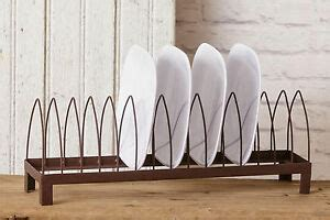 kitchen plate rack stand holder dish drying rack rustic farmhouse country decor ebay