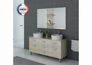 meuble de salle de bain 2 vasques sur pied dis911sc With meuble salle de bain 140 cm double vasque sur pied