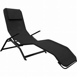 Bain De Soleil Noir : bain de soleil en acier daytona noir leroy merlin ~ Edinachiropracticcenter.com Idées de Décoration