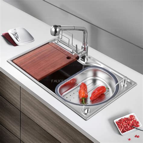 Kitchen Sinks Nickel Brushed Stainless Steel Single Bowl
