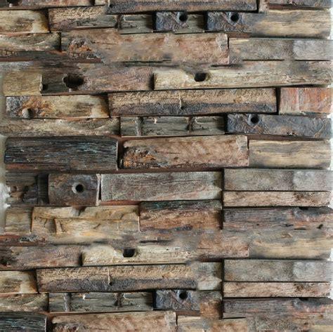 Natural Wood Mosaic Tile Rustic Wood Wall Tiles Nwmt014