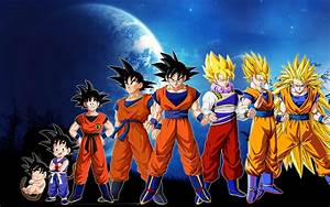 Dragonball Z Goku Evolution HD Wallpaper of Anime ...