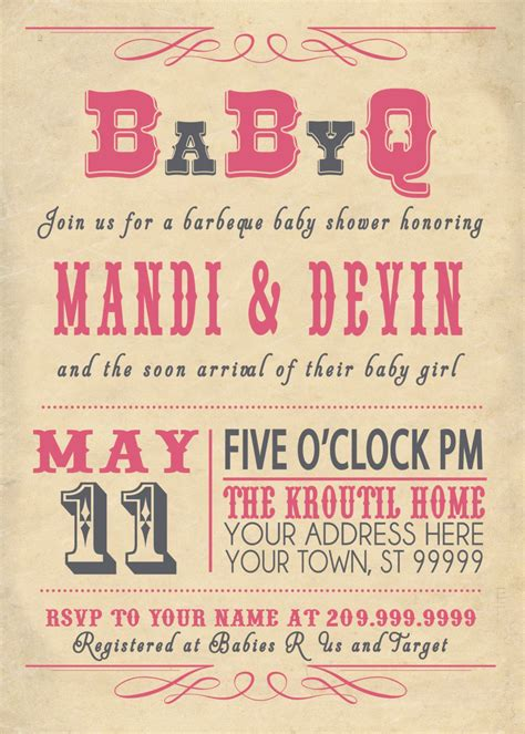 baby shower couples baby shower invitations card