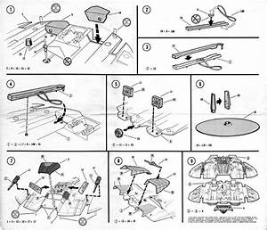 1978 Cylon Raider Monogram Model Kit Instruction Scans