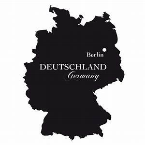 Deutschland Karte Umriss Wandtattoo