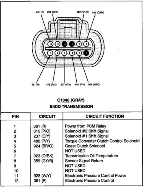 Need Borg Warner Plug Wiring Diagram Ford