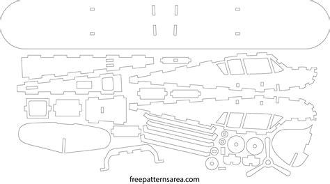 laser cut plane 3d puzzle dxf free download freepatternsarea