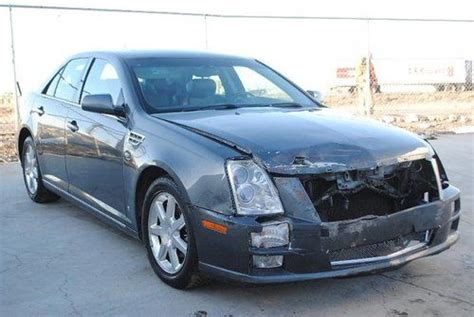 Sell Used 08 Cadillac Sts Luxury Damaged Rebuilder Loaded