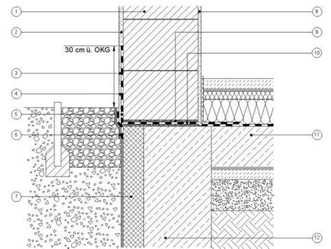 abdichtung bodenplatte schweißbahn experten der baubranche abdichtung sockel wienerberger detail flachgr 252 ndung mauerwerk mit 220 berstand