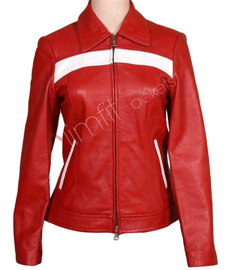 red leather motorcycle jacket slim fit red women 39 s leather motorcycle jacket sale