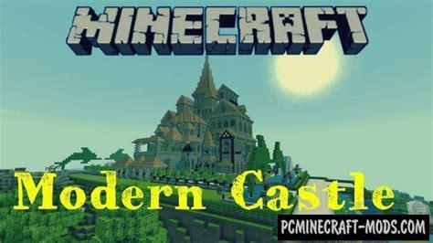 modern castle minecraft pe bedrock map    pc java mods