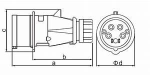 3 Phase Industrial Waterproof Plug 16a Power Plug
