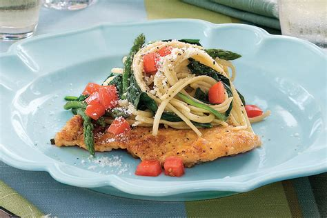 Chicken Scaloppine With Spinach And Linguine  Quick And