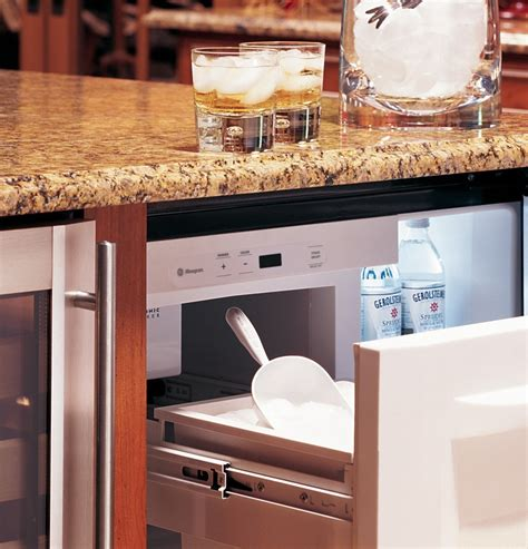 zibshss monogram  undercounter refrigerator ice maker wine shelf stainless steel