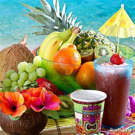 fruit star skewers idea luau food ideas luau party