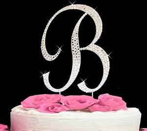 letter b cake topper swarovski rhinestone initial b With letter b cake topper