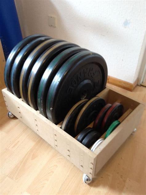 diy olympic plate rack  wheels  home gym diy home gym home gym set