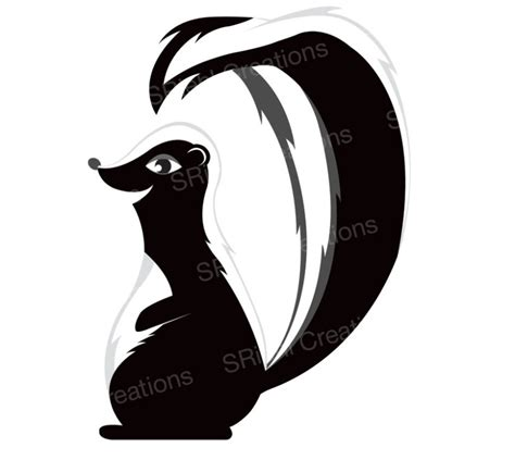 shoo clipart black and white free stinky skunk cliparts free clip free
