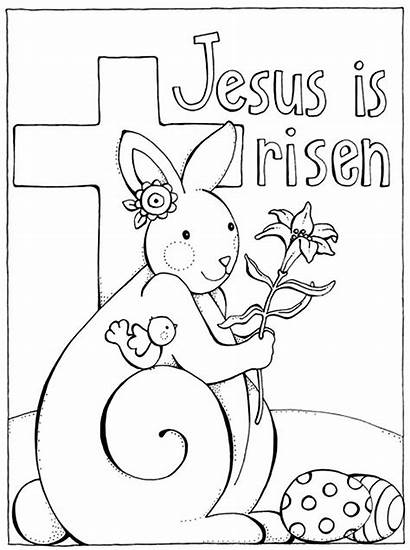 Coloring Easter Pages Religious Jesus Risen