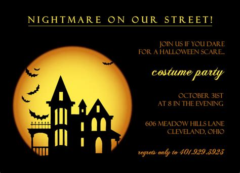 halloween party invitation cards festival collections