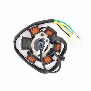 Motorcycle 5 Wire 6 Poles Full Wave Dc For Honda C100 100cc Magneto Stator Coil Generator Spare
