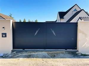Installateur De Portail Motorisé : installation d 39 un portail coulissant motoris en aluminium aiserey 21 ~ Farleysfitness.com Idées de Décoration