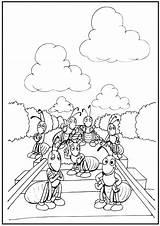 Track Coloring Train Pages Railroad Drawing Cartoon Printable Getcolorings Getdrawings sketch template