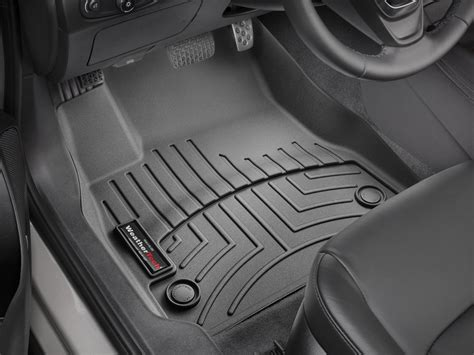 weathertech floor mats floorliner for chevrolet malibu 2016 2017 black