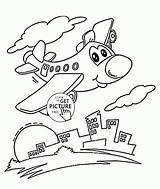 Coloring Plane Drawing Cartoon Funny Preschoolers Transportation Airplane Preschool Pinball Machine Wuppsy Truck Tractor Template Dump Printables Getdrawings Trucks sketch template