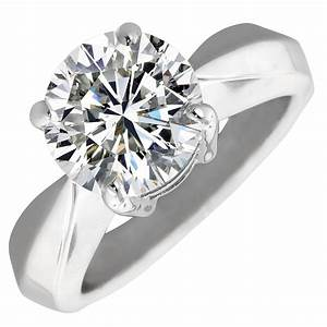 diamond solitaire engagement ring in 14k white gold 202ct With 2 wedding bands with engagement ring