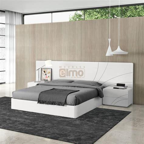 tete de lit chambre adulte lit adulte design tête décor et cadre de lit chevets laque