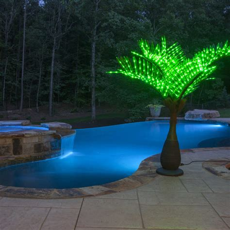 led lighted palm trees bottle commercial led lighted palm tree with green canopy yard envy
