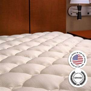 Extra plush bamboo fitted mattress topper pad for Best plush mattress topper