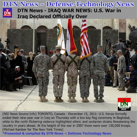 Defense War News Updates Dtn News  Iraq War News Us
