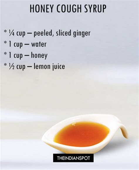 homemade cough syrup recipes theindianspot
