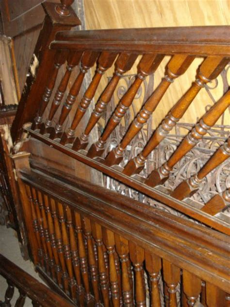 Antique Banister by Staircase Paneling Posts Pedestals Oley Valley