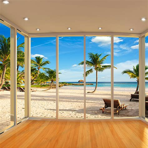 custom photo wallpaper  window natural landscape large