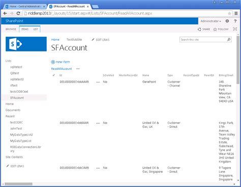 access quickbooks  data  sharepoint external lists