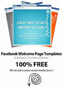 free facebook welcome page template psd download wp4fb 30 With facebook welcome page templates